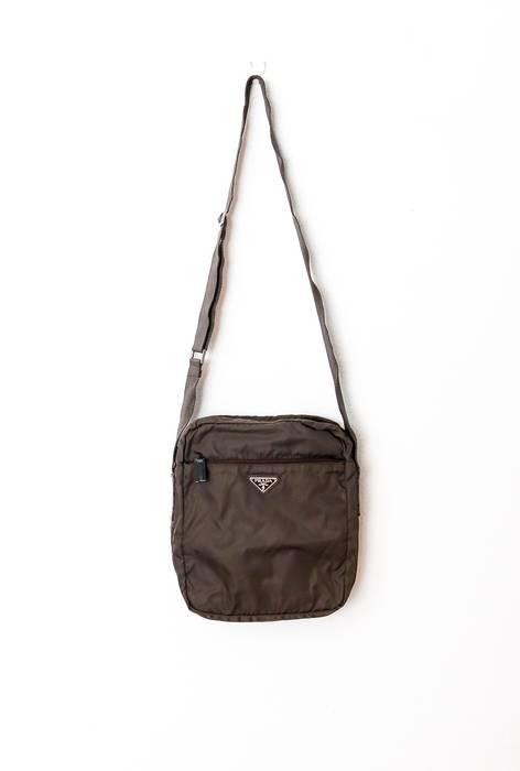 24c8a2c3a2 Prada Olive Vela Nylon Shoulder Bag Size one size - Bags   Luggage ...