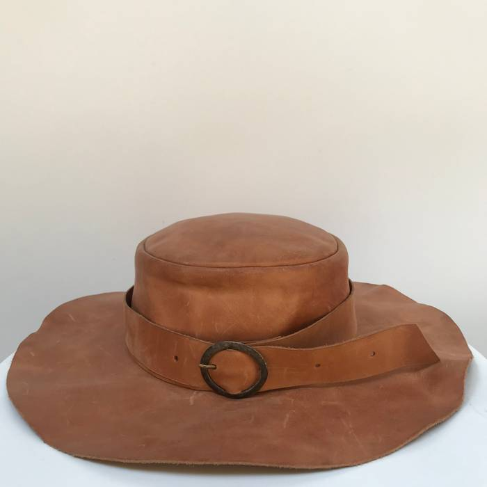 Cherevichkiotvichki Leather Hat with Buckle Size one size - Hats for ... f51af976853