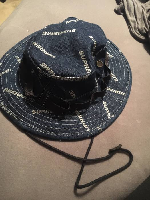 Supreme Denim Bucket Hat Size one size - Hats for Sale - Grailed 8070bfbb0b7
