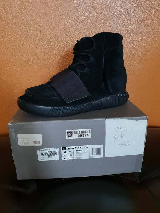 bfa35082aaece Adidas Yeezy 750 boost triple black Size 11 - Hi-Top Sneakers for ...