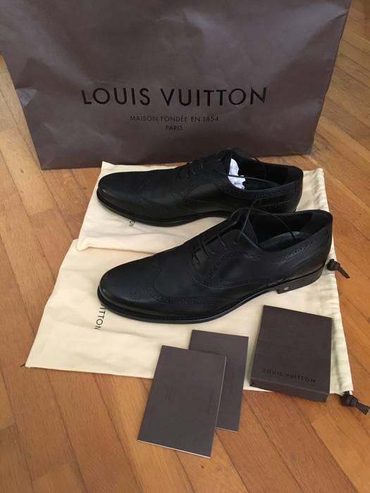 0242f1d3c2fa ... sale in Burnaby letgo Source · Louis Vuitton Black Leather Lace Up Men  s Dress Shoes Size 9 5