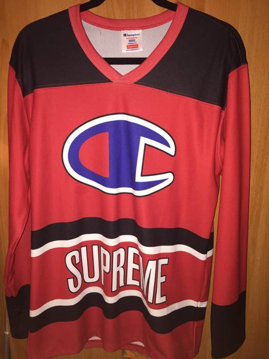 Supreme Supreme X Champion Hockey Jersey Size m - Long Sleeve T ... af99428fe