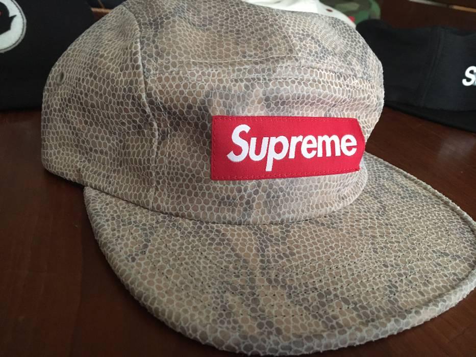 Supreme Supreme Suede Snakeskin Cap (FINAL DROP) Size one size ... 4d6c7840bbd