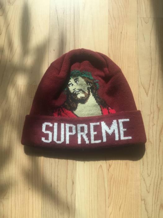 bdedadc33d4 Supreme Supreme Jesus Beanie Size one size - Hats for Sale - Grailed