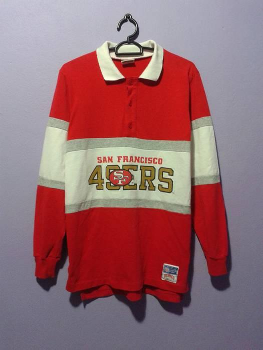 Vintage Sf San Francisco 49ers Chest Logo Nfl Nutmeg Mills Polo