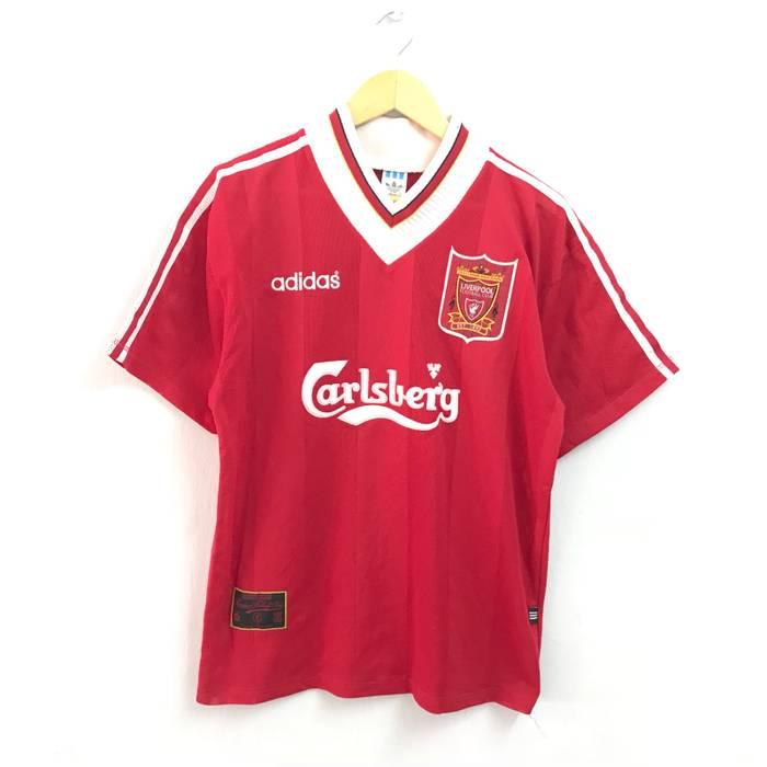 Adidas Rare!!Vintage 90s 95 96 Liverpool Home Adidas Jersey Red ... 647cd82e6