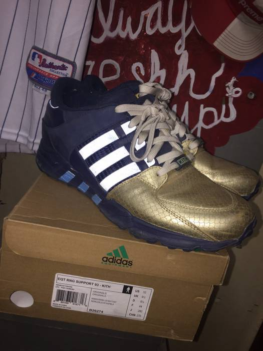 """new arrival 15c14 9ff63 Adidas RONNIE FIEG X ADIDAS EQT SUPPORT 93 """"NYCS BRAVEST"""" Size US 10"""