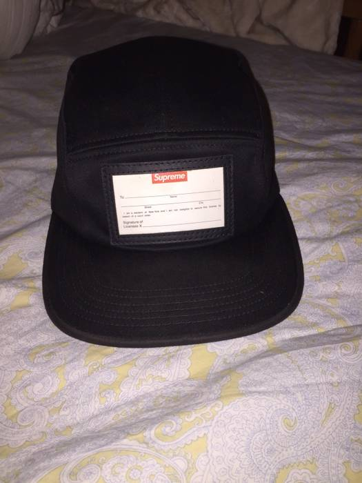Supreme Supreme Name Tag Camp Cap Hat Size one size - Hats for Sale ... be76510c9