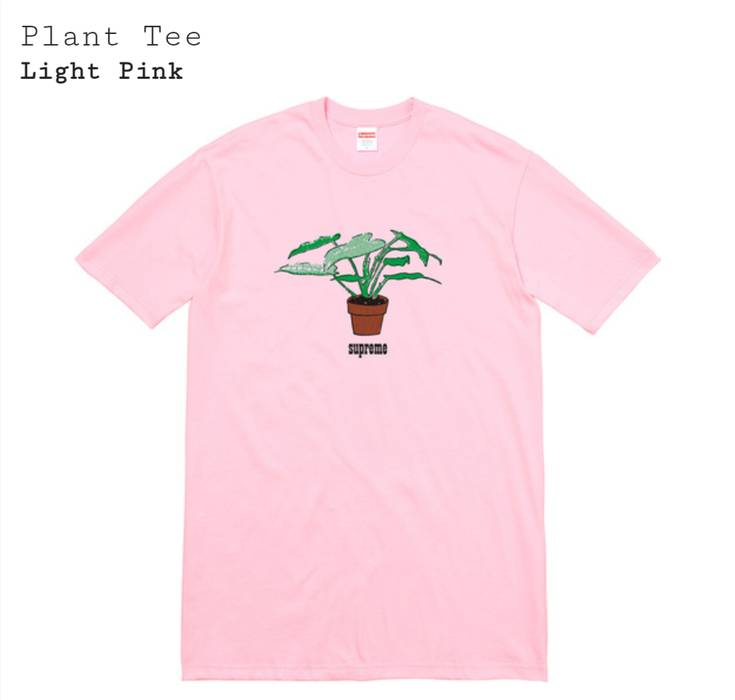 de89e7c0fde4 Supreme Supreme Plant Tee Light Pink Size xl - Short Sleeve T-Shirts ...