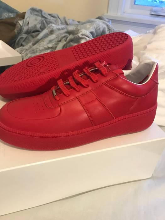 Maison Margiela Red Calfskin Margiela Sneakers Size 11 - Low-Top ... 912d77803