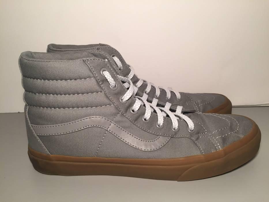 Vans Vans Sk8-Hi Gray  Gum Reflective Laces Size 12 - Hi-Top ... 08f21e78d