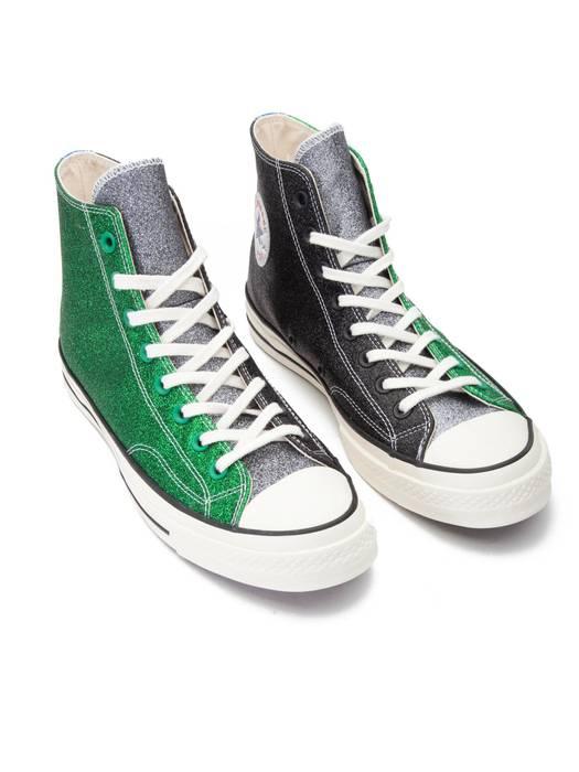 b8489a7e2bbcf8 Converse JW Anderson Converse 1970s Black Green Glitter Size US 9.5   EU 42- 43