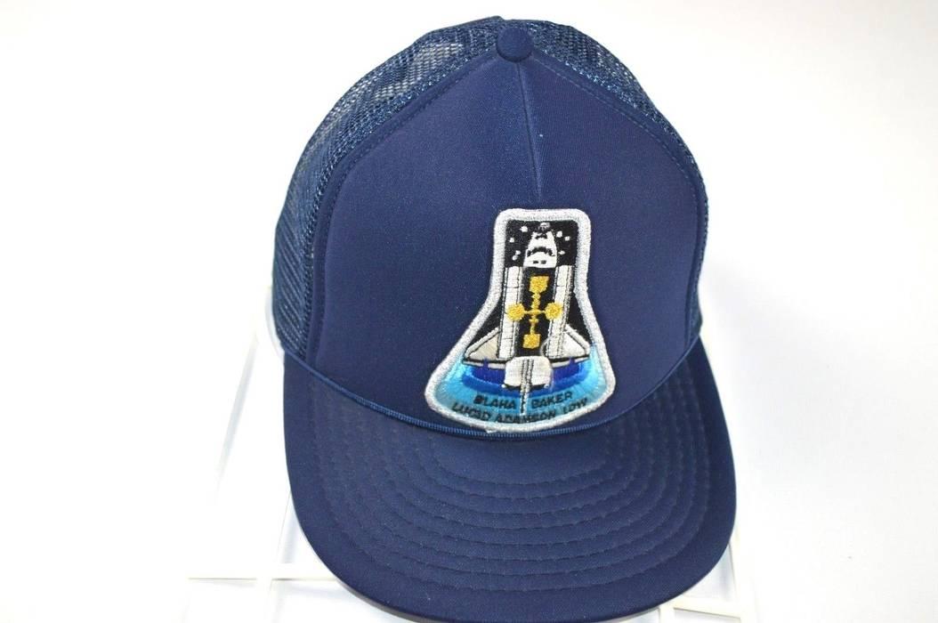 9dfaf294c25 Vintage Vintage 90s NASA STS-43 Blaha Baker Lucid Adamson Low Crew Mesh  Snapback Hat