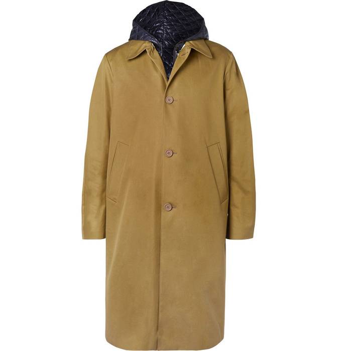 dcce5d2e33b1 Acne Studios Midnight Cotton-Twill Coat with Detachable Quilted ...