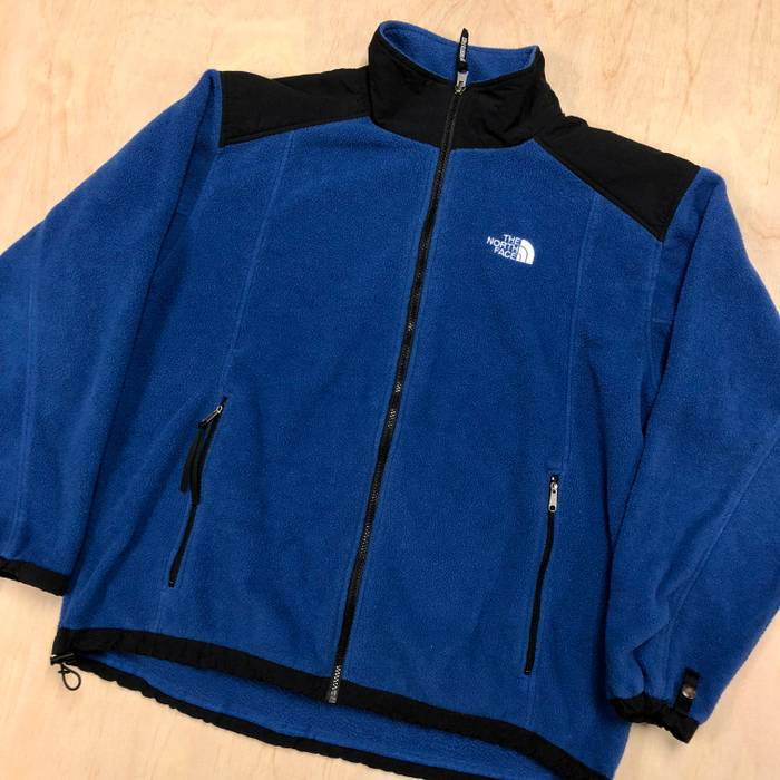 7e520d6385 Vintage 90s TNF The North Face Denali Fleece Windbreaker Jacket Blue VTG  Size US L