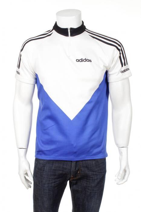 Adidas Vintage 90s Adidas Cycling Jersey Vintage 90s Blue White Size US M    EU 06c35d92a