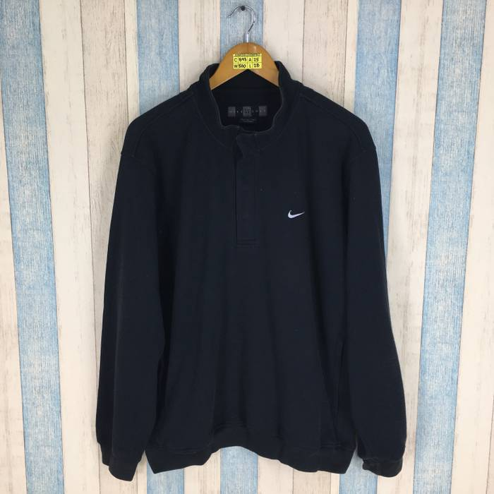 c6c8f821a1 Nike NIKE Jumper Men Women Large Black Sportswear Vintage Nike Swoosh Sweater  Nike Golf Sports