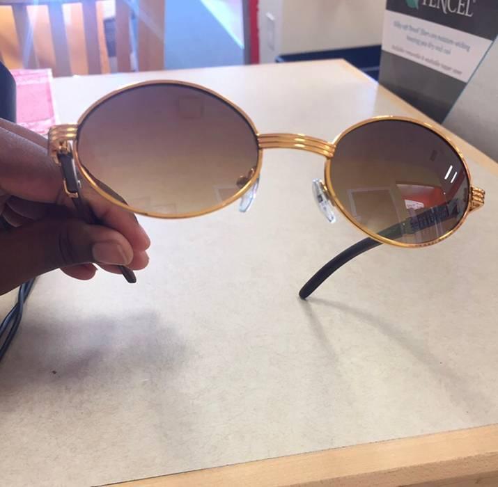 3b7e751aa518 Sunspel 90 s Gold Cartier Style Sunglasses Size one size ...