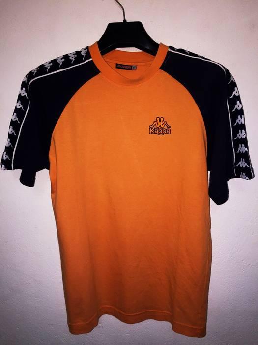 Kappa KAPPA Italy Sportwear Web Stiped Track T Shirt M size fit S too Logo  Side 37b4baded