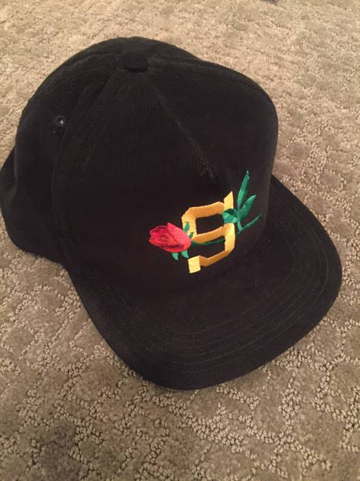 Supreme Black Rose Hat Size one size - Hats for Sale - Grailed a0194d2c18e