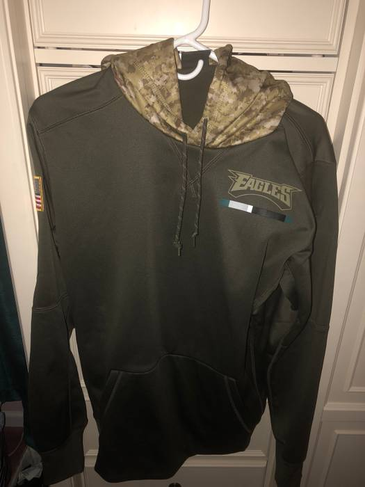 Nike 2018 Philadelphia Eagles Nike Olive Salute to Service Sideline Therma  Pullover Hoodie Size US M 5c397c7c3