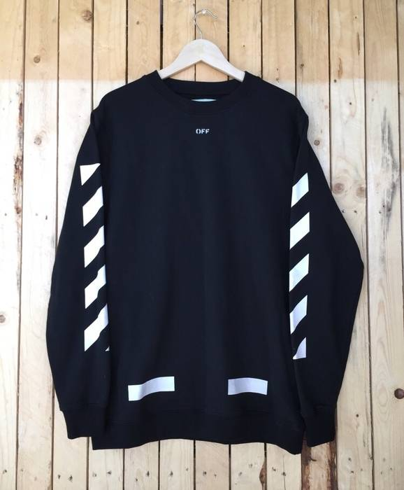 Off White Offwhite Seeing Things Black Sweater Size S Long