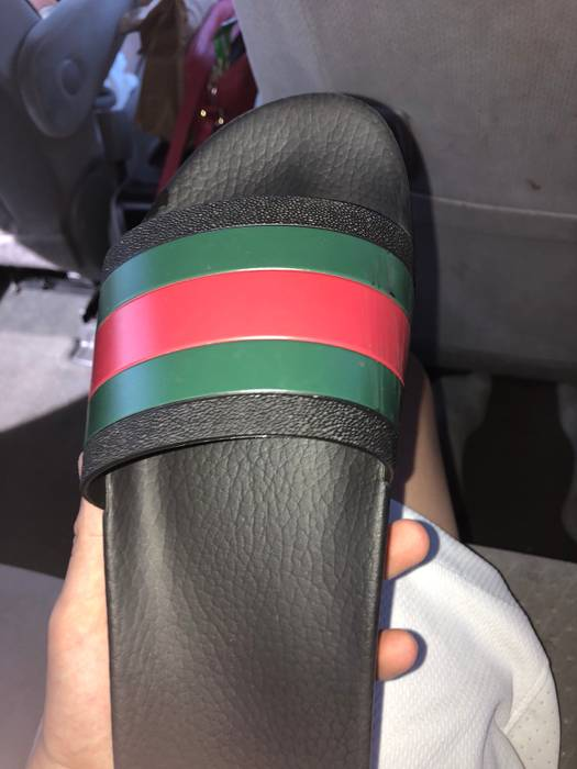 f62c6eb83983d7 Gucci Gucci Slides Used Size 9 - Slip Ons for Sale - Grailed
