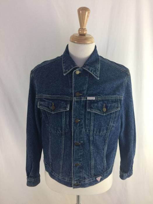 8fcc7a02658c2 Guess Vintage 90s Guess Blue Denim Jacket Size Medium Made In USA ...