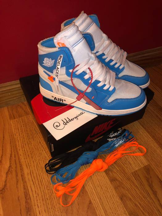 f3bfdf5e5147 Jordan Brand Off White Jordan 1 UNC Size 10 - Hi-Top Sneakers for ...