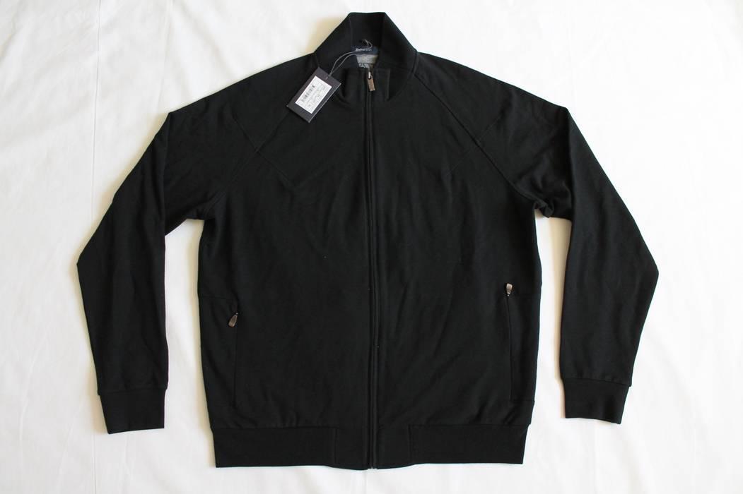 Ermenegildo Zegna Sport  295 BLACK ZIP-UP BOMBER JACKET NWT Size US XL   EU 1a2d329027d