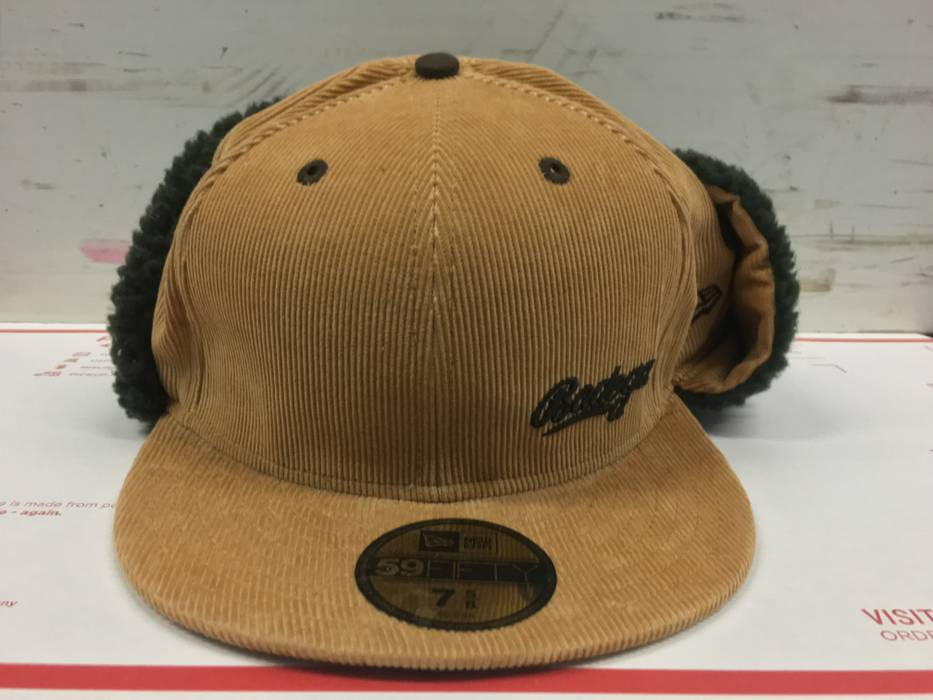 Bodega BODEGA X NEW ERA WINTER FITTED HAT CAP SZ 7 5 8 KHAKLI OLIVE ... 7c615eb5d06