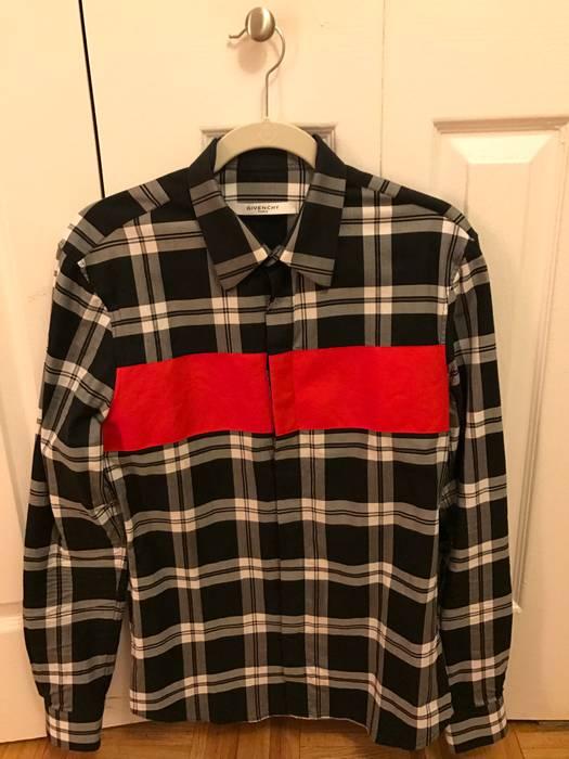 1063443073b0 Givenchy Men s Black Paneled Plaid Shirt Size m - Shirts (Button Ups ...