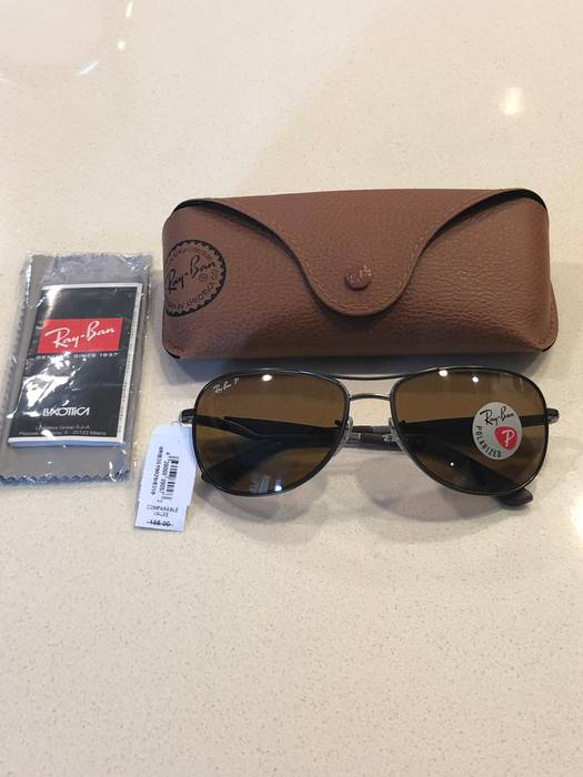 a5c1ae0f62 RayBan New Authentic Ray Ban Pilot Sunglasses RB3519 029 83 Brown Polarized  Lens  185 Size