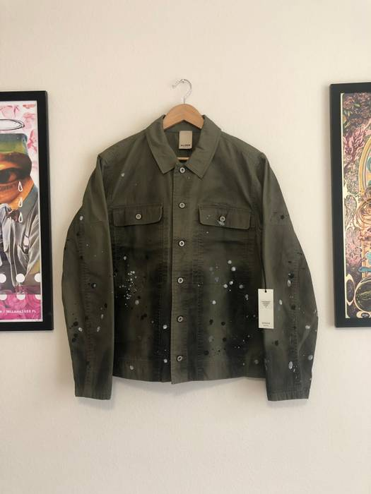 f89db56468b6 Baldwin The Jackson M65 Military Jacket In Khaki With Paint (By Artist Eric  Saul)