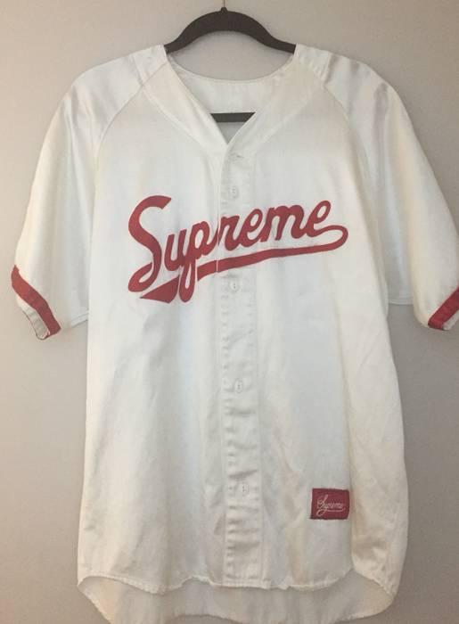 Supreme Supreme Satin Baseball Jersey S S 17 Size l - Long Sleeve T ... 4093f113f