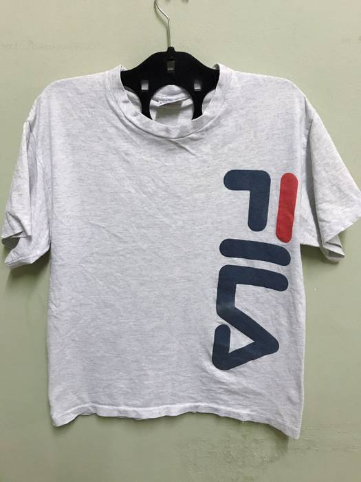 Vintage Vintage Fila Spell Out Big Logo Shirt Size s - Short Sleeve ... 37eaeace4d28