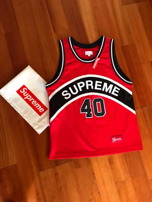 684297aa1 Supreme Supreme Curve Basketball Jersey Red Size US M   EU 48-50   2