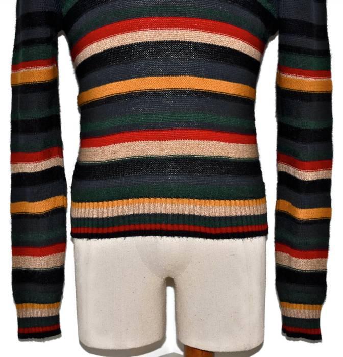 e42153ba0 Osklen OSKLEN Striped Black Green Red Yellow Beige Crewneck Sweater ...