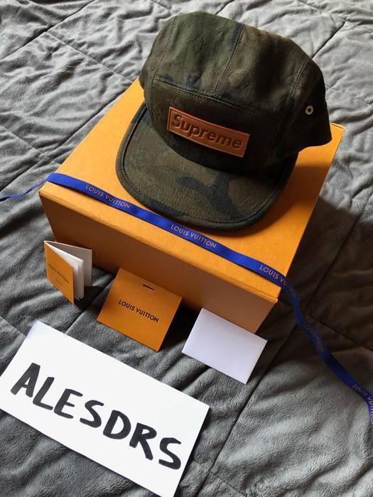 Supreme supreme X Louis Vuitton Camouflage Monogram Box Logo 5 Panel Camp  Hat Size ONE SIZE 41121ea6eee2