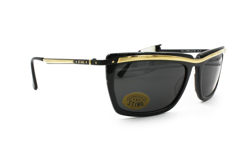 d795d97e3fe Sting STING vintage 80s sunglasses renewal wayfarer black   golden ...