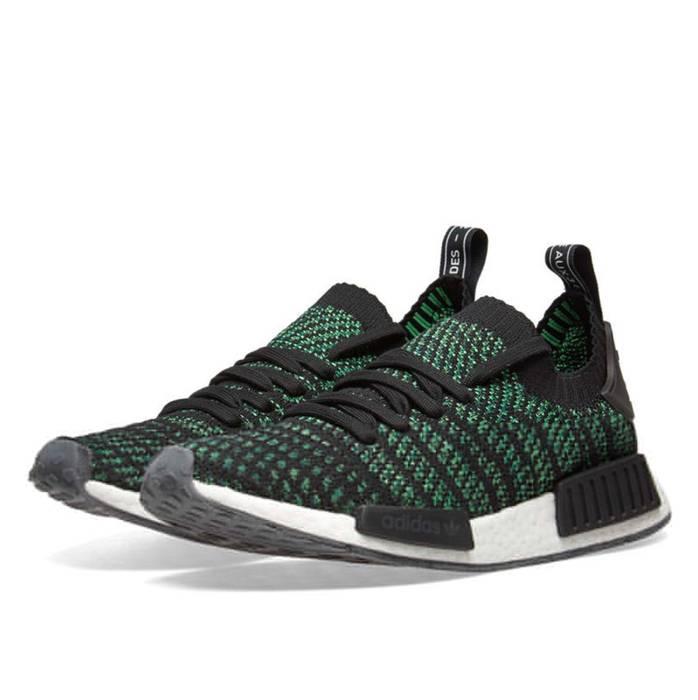 df698104ce1f5d Adidas NMD R1 STLT Primeknit Black   Green Size 10.5 - Low-Top ...