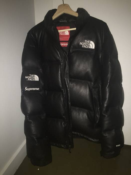 4335677aee Supreme The North Face Leather Nuptse Jacket - Image Of Jacket