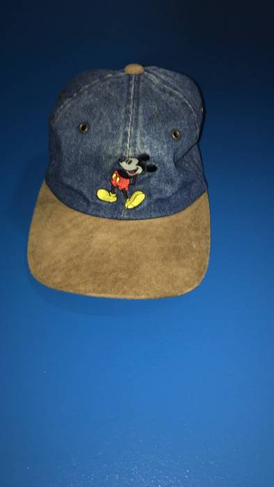 Vintage Mickey Mouse Denim Hat Size one size - Hats for Sale - Grailed 3688a61beac