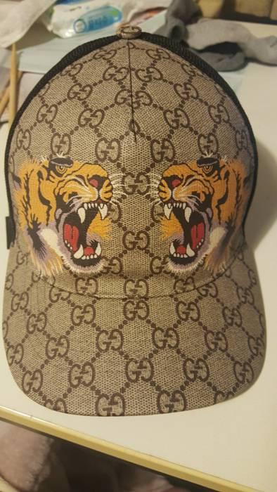 Gucci Tiger Print Gg Supreme Baseball Hat Size One Hats For 699af4b4d6cc