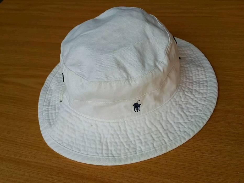 853a4de9850 Polo Ralph Lauren VINTAGE 90 S POLO RALPH LAUREN BUCKET HAT WHITE ...