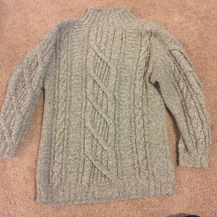 Ll Bean Mens Ll Bean Fisherman Wool Turtleneck Sweater Size
