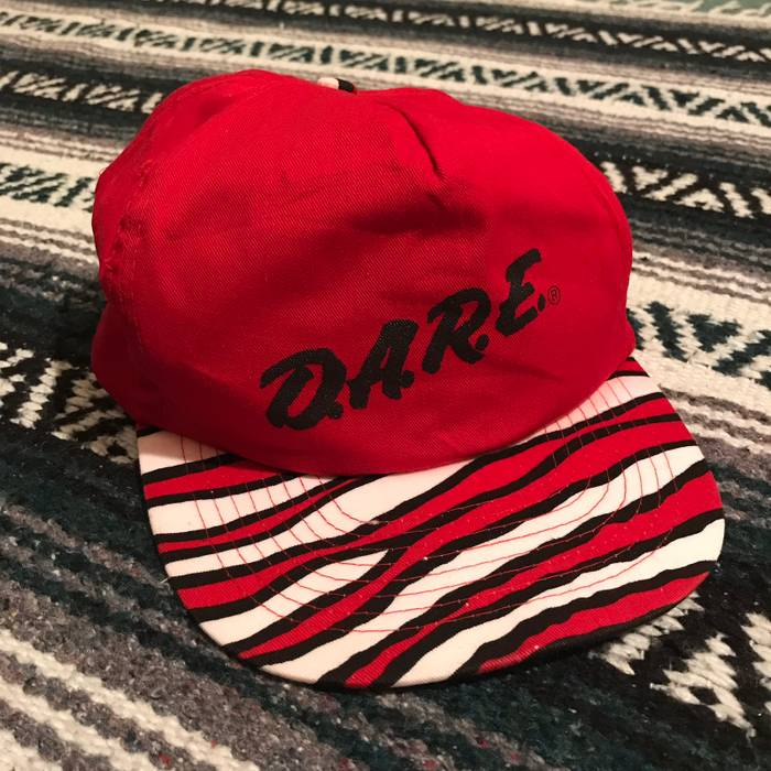 Vintage Rare Vintage 90s DARE To Resist Drugs Zubaz Style SnapBack Hat  Spell Out VTG 1990s 9a7a27c6454