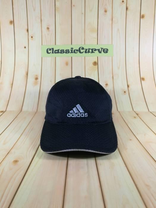 aeeecebc568 Adidas Vintage Adidas Cap 3 Stripe With Big Logo Cap Strapback Adjustable  Cap Black Colour Puma