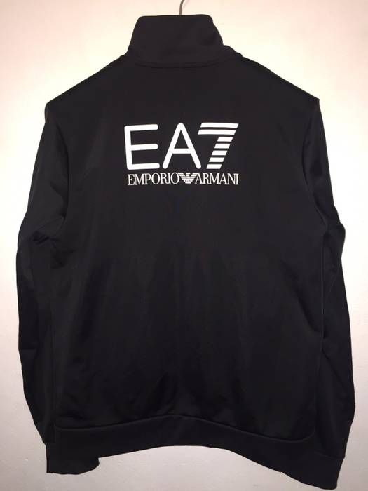 Emporio Armani EMPORIO ARMANI EA7 Italy Sportwear Track Jacket XL or L size  Black Logo Side 443c3191293