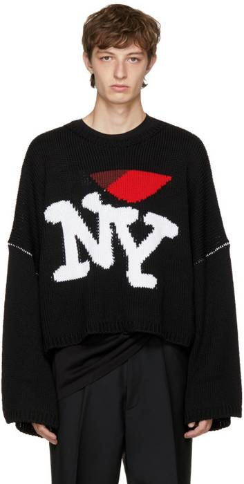 Raf Simons No More Drops Black Oversize I Love Ny Sweater